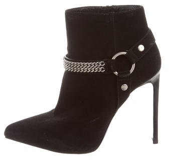 Saint Laurent Saint Laurent Suede Harness Ankle Boots
