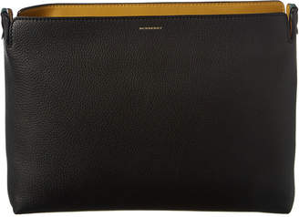 Burberry Large Tri-Tone Leather Clutch