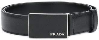 Prada plate buckle belt