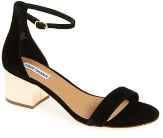 Steve Madden 'Irenee-G' Mirror Block Heel Sandal (Women) $89.95 thestylecure.com