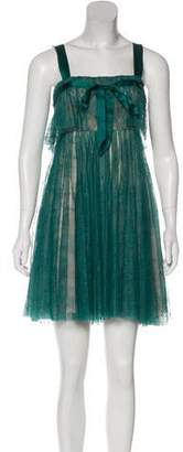 John Galliano Lace Mini Dress