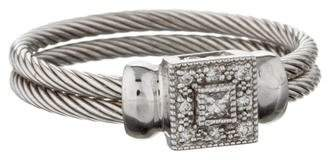 Charriol 18K Diamond Cable Ring