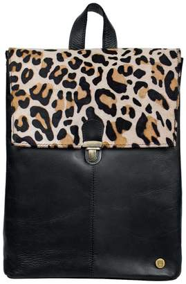 Mahi Leather Pony Hair Leather Yale Backpack In Leopard Print