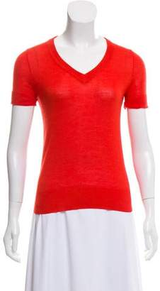 Derek Lam Cashmere & Silk Short Sleeve Top