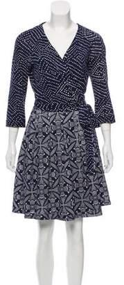Diane von Furstenberg Jewel Knee-Length Wrap Dress
