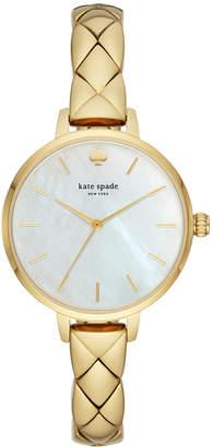 Kate Spade Women's Metro Gold-Tone Stainless Steel Bracelet Watch 34mm