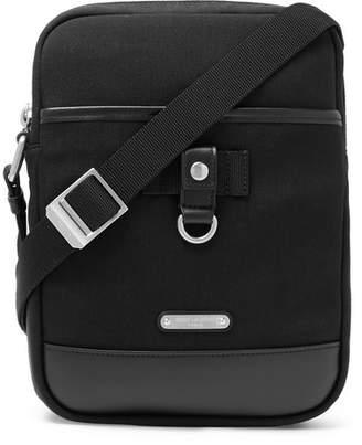 Saint Laurent Rivington Race Leather-Trimmed Canvas Messenger Bag