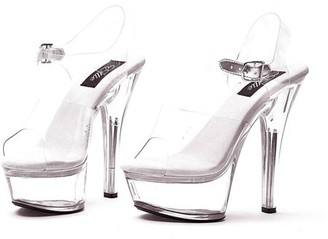 ELLIE SHOES Sassy Glass Slipper Adult, Brook Halloween Costume Accessory
