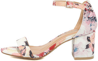 Ft. Lauderdale Blush Multi Ankle Strap Heels $30 thestylecure.com