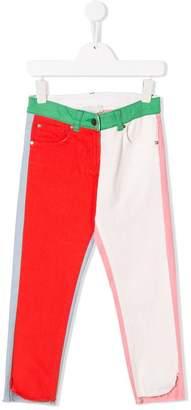 Stella McCartney colour block slim fit trousers