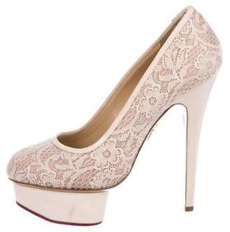 Charlotte Olympia Lace Dolly Pumps