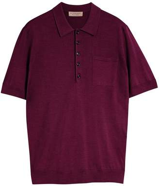 Burberry Knitted Silk Polo Shirt