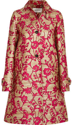 Valentino - Jacquard Coat - Red $5,200 thestylecure.com