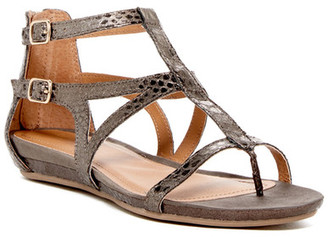 Kenneth Cole Reaction Lost Time Snake Print Sandal $59 thestylecure.com