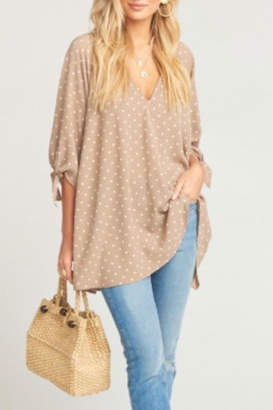 Show Me Your Mumu Polka-Dot Tunic
