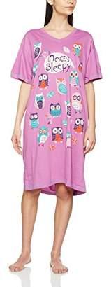 Hatley Animal World - Hoo's Sleepy Women's Sleepshirt Light Pink