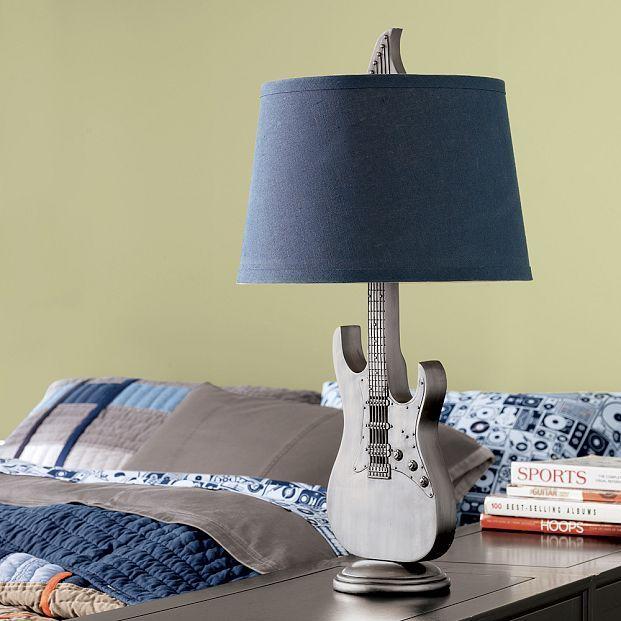 Music Guitar Lamp Base + Shade