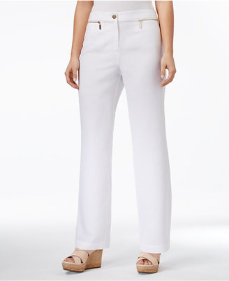 JM Collection Linen-Blend Wide-Leg Pants, Only at Macy's $49.50 thestylecure.com
