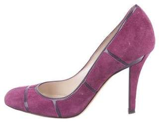 Christian Dior Round-Toe Suede Pumps