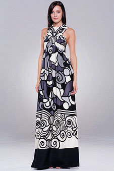Tibi Deco Poppie Long Dress