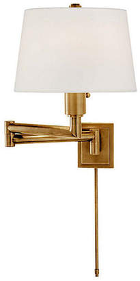 Visual Comfort & Co. Chunky Swing-Arm Sconce - Burnished Brass