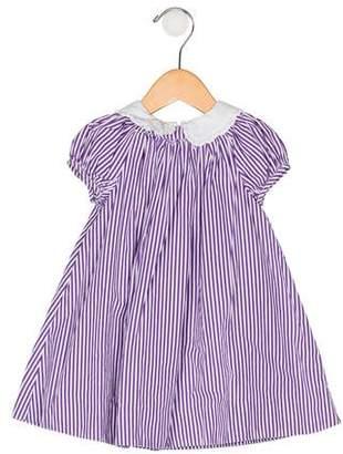 Ralph Lauren Girls' Striped Collar Dress