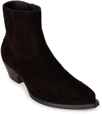 Saint Laurent Black Lukas Western Suede Ankle Boots