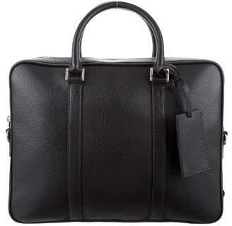 Prada Grain Leather Logo Briefcase w/ Tags
