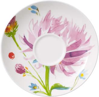 Villeroy & Boch Anmut Flowers Teacup Saucer 6 in