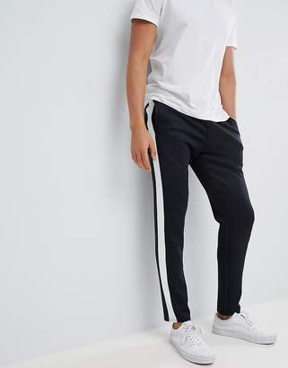 Jack and Jones Track Pant With Sport Stripe In Slim Fit