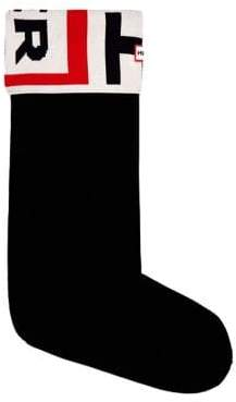Hunter Logo Tall Boot Socks with Faux Fur