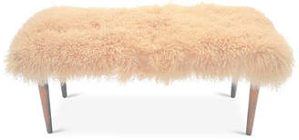 Le-Coterie Curly Adolfo Bench - Beige