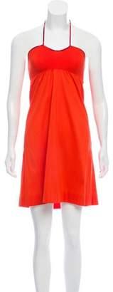 Eres Sleeveless Mini Dress w/ Tags Orange Sleeveless Mini Dress w/ Tags