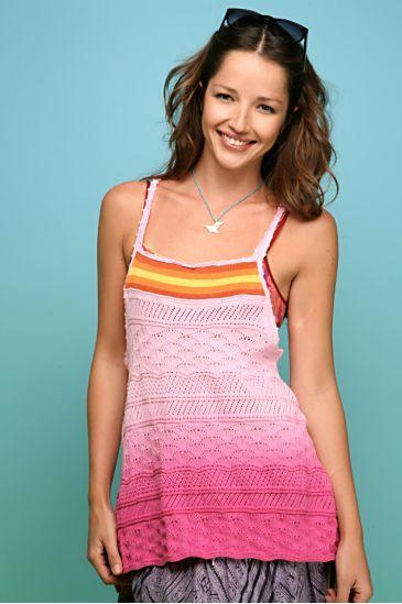 Dip Dye Crochet Tank