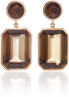 Giovane 18K Rose Gold and Quartz Earrings