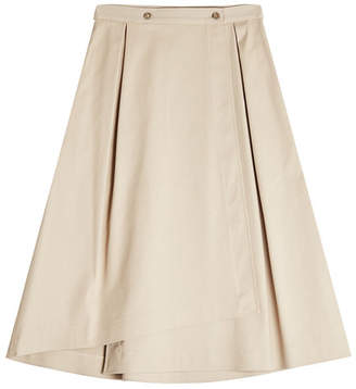 Jil Sander Navy A-Line Cotton Skirt