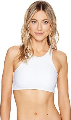 Body Glove Junior's Smoothies Leelo High Neck Cropped Bikini Top with Lace up Back