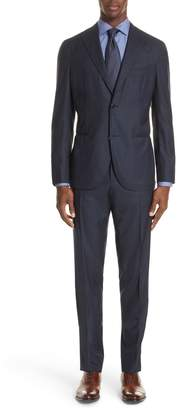 Boglioli Trim Fit Stripe Wool Suit