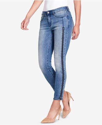 William Rast Zippered-Leg Skinny Jeans