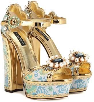 Dolce & Gabbana Embellished plateau sandals