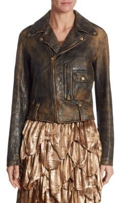 Ralph Lauren Collection Dwight Leather Jacket $3,490 thestylecure.com