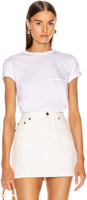Helmut Lang Laws T Shirt in Chalk White   FWRD