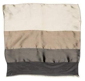 Giorgio Armani Striped Silk Pocket Square w/ Tags