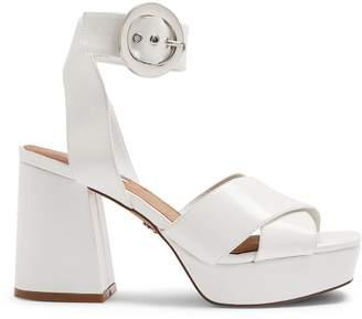Topshop Reggie Faux Leather Platform Sandals