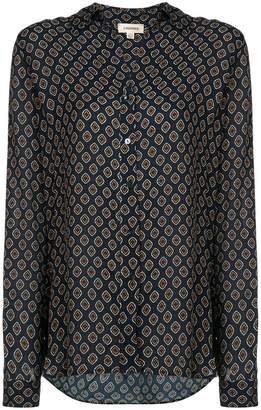 L'Agence patterned button blouse