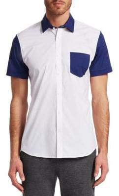 Saks Fifth Avenue MODERN Colorblock Woven Button-Down Shirt
