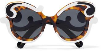 Prada - Cat-eye Acetate Sunglasses - Tortoiseshell $450 thestylecure.com
