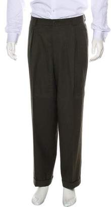 Giorgio Armani Cuffed Cropped Wool Dress Pants
