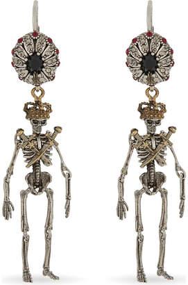 Alexander McQueen Jewelled skeleton earrings