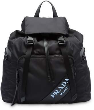 Prada technical logo backpack
